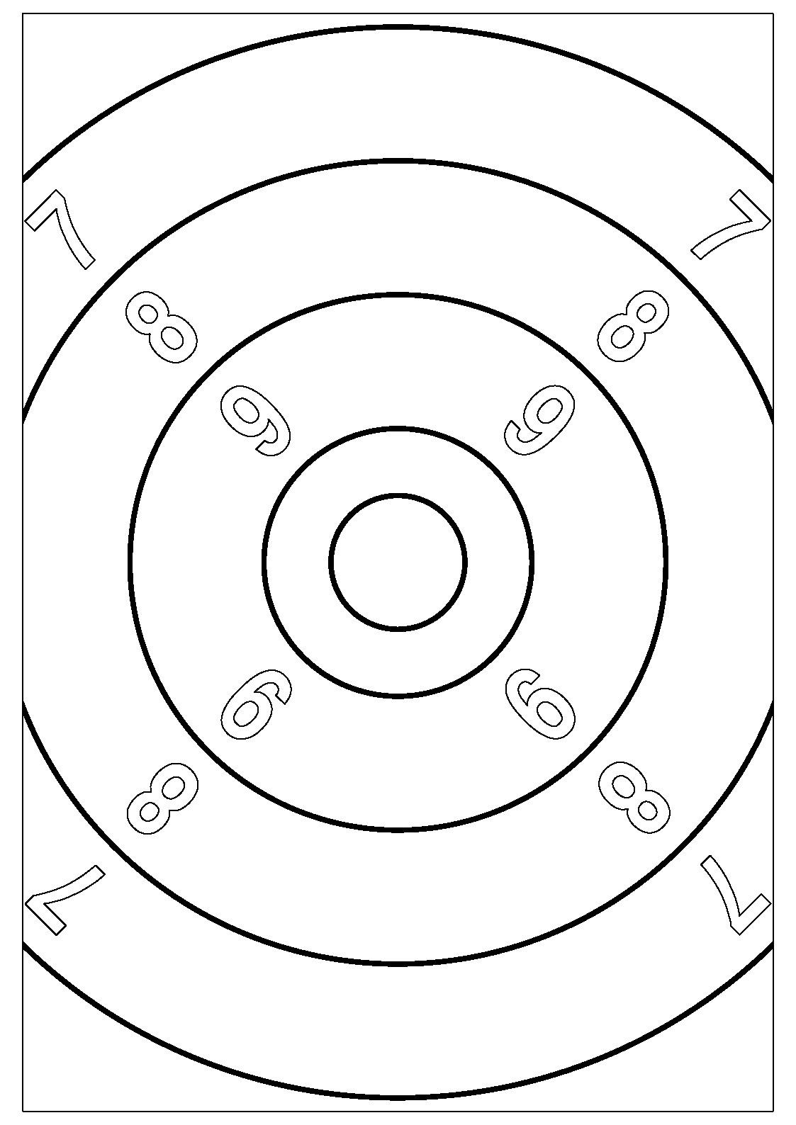 Cibles imprimer pour le tir 50m 100m et 300m - Pistolet a colorier ...